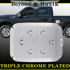 11-16 FORD F250 F-250 SUPERDUTY Chrome Fuel Gas Door Cover Cap Trim Overlay