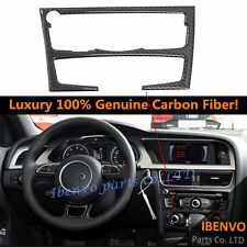Genuine Carbon Fiber Front Dashboard Console Pannel Frame For Audi B8 A4  S4 A5