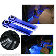 4 LED Car Interior Decorative Floor Dash Lights Cigarette Lighter Lamp Blue VT