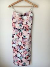 Edge Size Size 8 Strappy Straight Peach Floral Bodycon dress  T5523