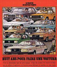COUPURE DE PRESSE CLIPPING 1976 HUIT ANS POUR FAIRE UNE VOITURE  (9 pages)