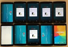 LOT #102 OF 10 DEFECTIVE LG G Pad V495 Silver 16GB WiFi + 4G AT&T Tablets
