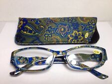 Women's Readers Fashion Reading Glasses With Case +2.00 #MPD24/2