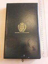 SAN MARINO BOX Order Saint AGATHA Medal GRAND Officer COMMANDER NECK Badge CASE