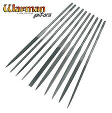 Set of 10 Diamond needle files, guitar building tools