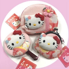Sanrio Hello Kitty Japanese accessories Chirimen Hand mirror Coin purse Pouch