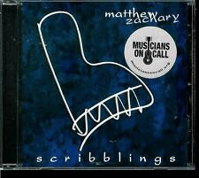 MATHEW  ZACHARY  * SCRIBBLINGS *  PIANO SOLO    CD