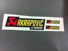 3 Adesivi Stickers AKRAPOVIC Yamaha resistente al calore