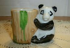 Vintage Ceramic Porcelain Panda Bear Toothpick Holder Made Japan