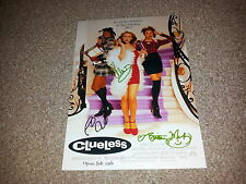 """CLUELESS CAST X3 PP SIGNED 12""""X8"""" PHOTO POSTER ALICIA SILVERSTONE PAUL RUDD"""