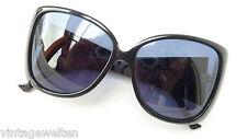 Aigner Designer-Sonnenbrille XXL Acetat schwarz Silberlogo überbreiter Bügel
