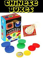 Chinese Boxes Set - Borrowed Coin Vanishes And Reappears Inside Of Nested Boxes!