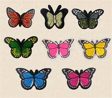 Wholesale 8Style/set butterfly Sew On Embroidered Patches/Badges Applique Motif