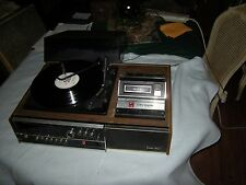 VINTAGE OLYMPIC T-8300  STEREO SYSTEM AM/FM RADIO, RECORD and   8 TRACK PLAYER