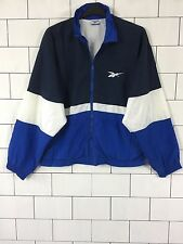 RARE URBAN VINTAGE RETRO BLUE REEBOK OLD SCHOOL SHELLSUIT WINDBREAKER LARGE