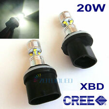2 X 20W CREE LED 880 890 H27W/1 885 Fog Light Driving Lamps CANBUS Error Free
