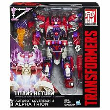TRANSFORMERS Generations Titans Return Voyager Autobot Sovereign & Alpha Trion