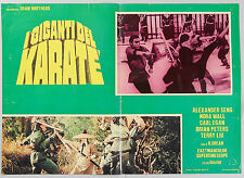 FOTOBUSTA 1, I GIGANTI DEL KARATE Shaolin Temple CHANG, SHAW BROTHERS, POSTER
