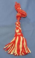 WWI Swiss Troddel New Old Stock Unissued Red White Wool Knit Tassel Uniform