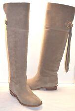 New $285 Michael Kors Rhea Flat Boot Dark Khaki/Beige Suede Over Knee Boot sz 6