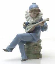 Nao Porcelain Pierrot Figurine, Strumming #1078 Retired