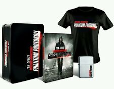Mission Impossible Ghost Protocol - Tin with Blu ray Steelbook Zippo T-Shirt NEW