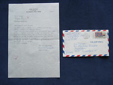 ORIGINAL TYPED LETTER SIGNED by HANS RICHTER 'Dreams That Money Can Buy' FILM