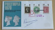 PHILYMPIA 1970 FDC LONDON HANDSTAMP SIGNED BY THE PHILATELIST ROBSON LOWE