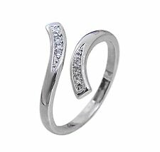 BUY 2 GET 1 FREE ON ALL ITEMS!!! Silver Adjustable Rhinestones Waves Ring
