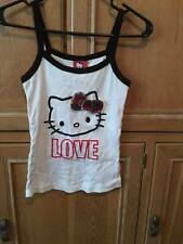 Sanrio Hello Kitty Pajama Set Black and White Tank w Short Pants Small Womans Ge