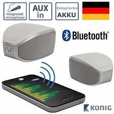KÖNIG BLUETOOTH LAUTSPRECHER MIT AKKU + MIKROFON Funk Mini Box Handy Smartphone