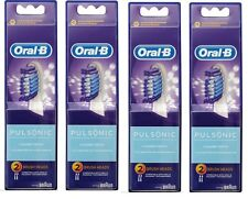 8 x Oral-B Pulsonic Refills Brush Heads CLEANER TEETH+ 100% Genuine & Brand New