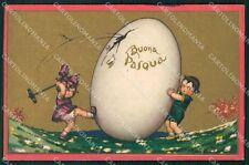 Castelli Children Easter Egg Greetings Degami serie 3511 postcard QT6650