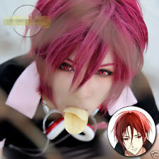 Cosplay Rin Matsuoka Dark Red Short Straight Anime Wig JH