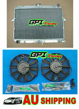 Aluminum Radiator +FANS for Ford Econovan / Mazda E2000 AT/MT Petrol 1984-1997