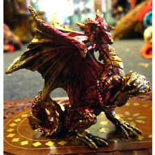 DRAGON FIGURE FIGURINE Kraithax 9cm RED & GOLD ORNAMENT GOTHIC Fantasy PAGAN