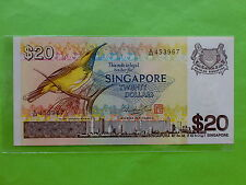 Singapore $20 Bird 1979 (PERFECT UNC), 2 pcs running no, (Mr Hon Sui Sen & Seal)
