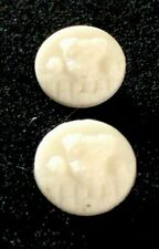 vintage Scotty Dog White  glass Buttons