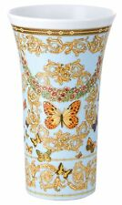 "VERSACE BUTTERFLY  LE JARDIN VASE Rosenthal NEW BOX WEDDING GIFT 11"" RETAIL $500"