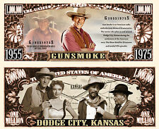 GUNSMOKE Billet 1 MILLION DOLLAR US ! Collection WESTERN Série TV Américaine USA
