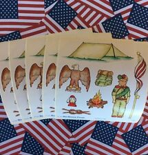 Eagle Boy Scout Troop Badges Knot Camping LOT 5 RARE Bo Bunny SCRAPBOOK Stickers