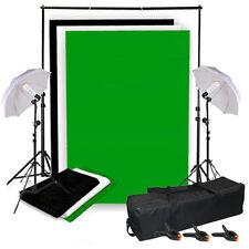1250W Studioleuchte Fotostudio SET Hintergrundsystem Hintergrund Stoff 3x1,6M
