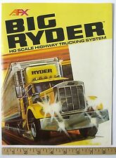 6-Side 1982 Aurora AFX BIG RYDER HIGHWAY TRUCKING SYSTEM Slot Car Catalog A++!