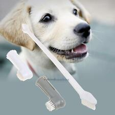 Pet Finger Toothbrush Double Head Brush Dog Cat Oral Dental Cleaning Teeth Care