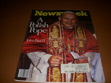 Newsweek Magazine, October 30, 1978, Pope John Paul II, The Wiz, Black Oz!
