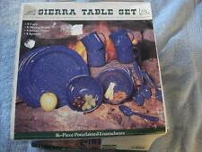 GSI OUTDOORS 16-PIECE SIERRA PORCELAINED ENAMELWARE TABLE SET