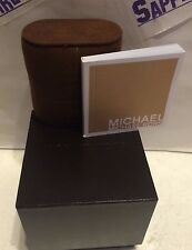 Michael Kors Empty Watch Box with official MK Booklet Dark Brown  NEW!