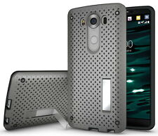 NEW GRAY AIR NET HEAT DISSIPATION CASE SLIM COVER STAND FOR LG V10 PHONE