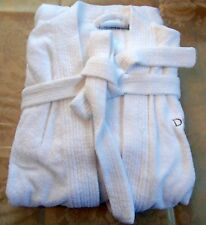 100% LUXURY COTTON UNISEX FULL LENGTH ONE SIZE FITS ALL WHITE SPA BATHROBE