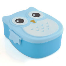 Portable Student Owl Lunch Box Bento food-safe Plastic Food Picnic Container New